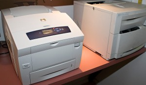 Xerox 8560 Phaser and HP 4550 taken by by swanksalot via Flickr