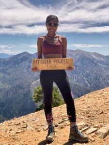 Jasmine at the summit of Mount Baden-Powell