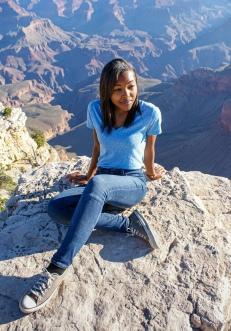 Me posing at the Grand Canyon