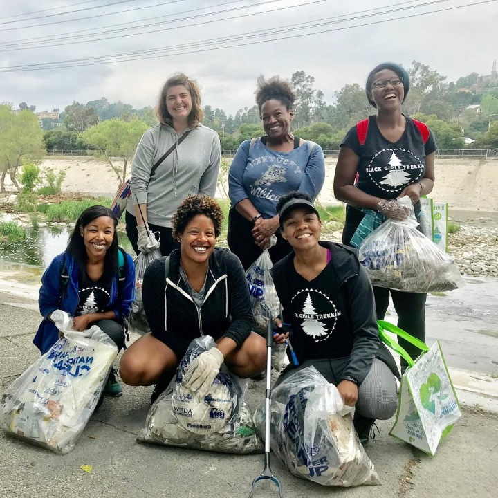 Cleaning up the L.A. River with Black Girls Trekkin' and FOLAR.