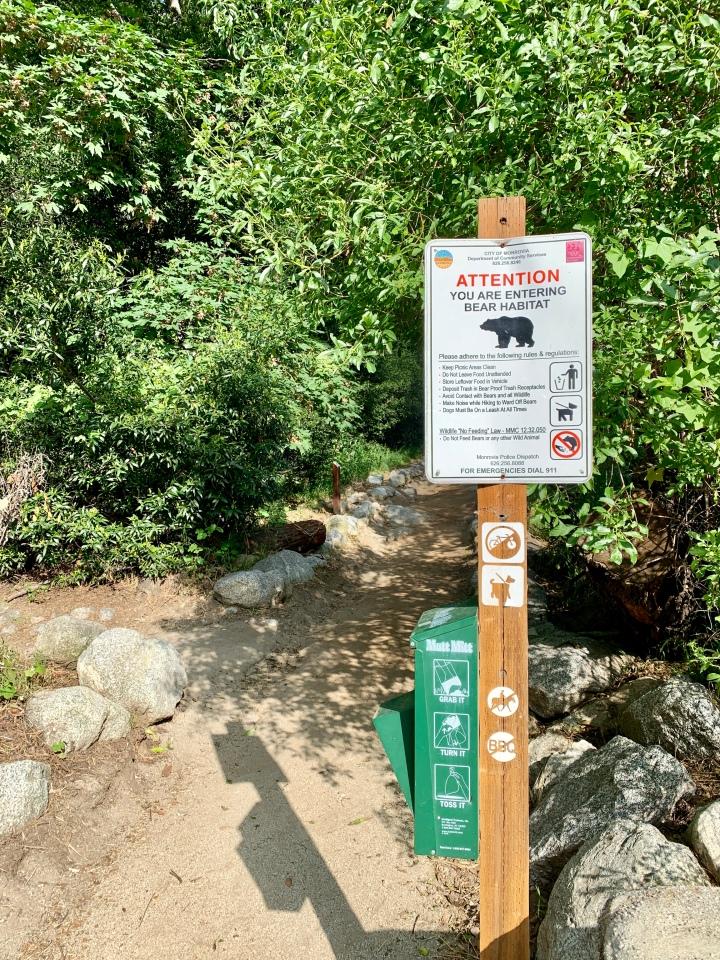Bear habitat ahead