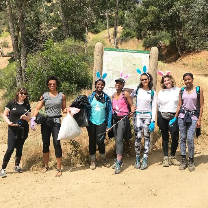 Easter Trash hunt with Black Girls Trekkin' in Los Angeles, CA's Griffith Park.