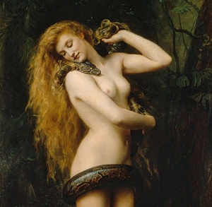 """""""Lilith"""" by John Collier, 1892"""